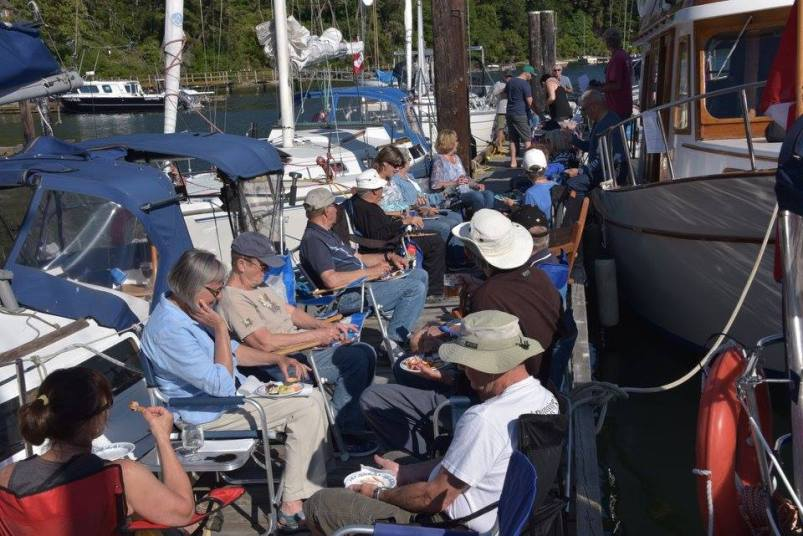 Dock Party - Photo by: Ladysmith Yacht Club