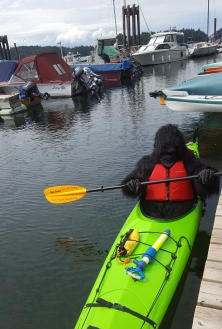 Monkeying around with Gorilla Mom - Judy Hindes and Gulf Island Kayaks - Photo by: Amber Reid